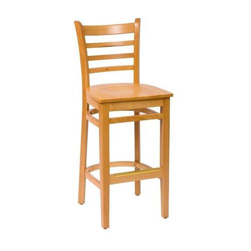 Our Burlington Natural Wood Ladder Back Barstool - Wood Seat is on sale now.