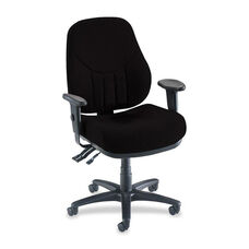 Lorell Multi -Task Chair - High -Back - 26 -7/8''W x 28''L x 39'' - 44''H - Black
