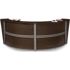 Marque Double-Unit Reception Station - Walnut