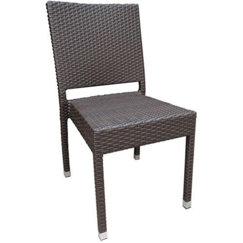Balboa Outdoor Weave Series Armless Chair - Chocolate
