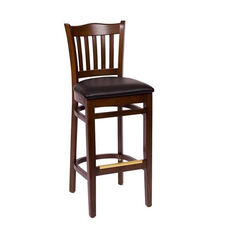 Princeton Walnut Wood School Barstool - Vinyl Seat