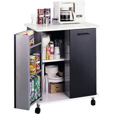 29.5'' W x 22.75'' D x 33.25'' H Mobile Refreshment Stand - Black and White
