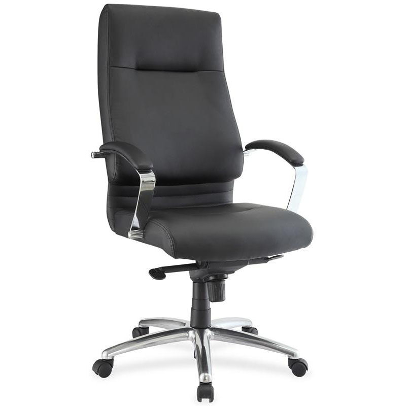 ... Our Lorell Modern High Back Executive Chair With Padded Arms   Black Is  On Sale