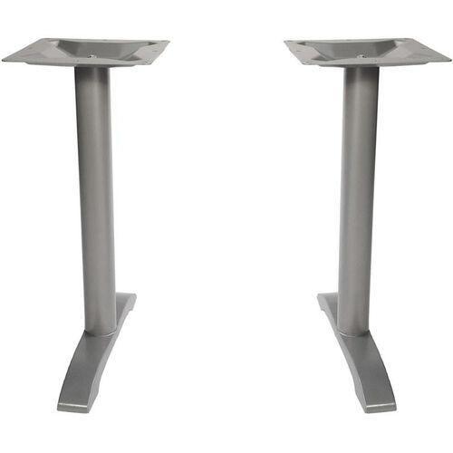Margate End Bases in Silver Powder Coat - Set of 2