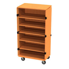 Transporter Storage Cabinet with 5 Adjustable Shelves with 2 Locking & 2 Non-Locking Casters - 48