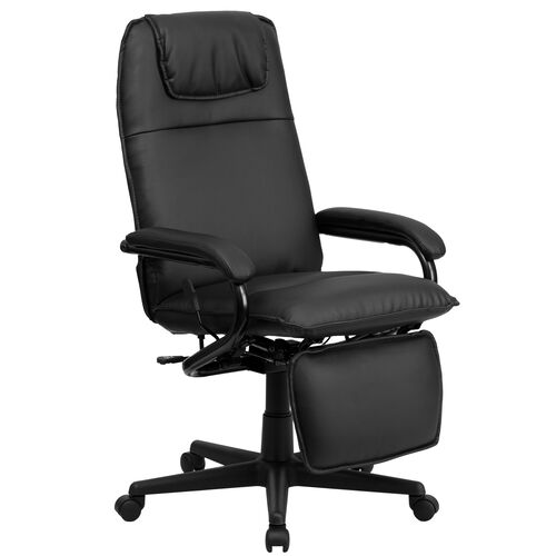 Our High Back Black Leather Executive Reclining Ergonomic Swivel Office Chair with Arms is on sale now.