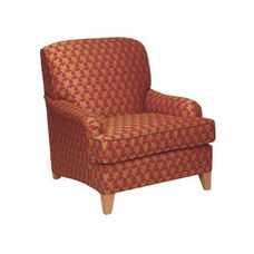 5691 Upholstered Lounge Chair w/ Tapered Wood Leg - Grade 1