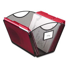 Safco® Onyx Mesh Desktop Tub File Storage Box - Letter - Black