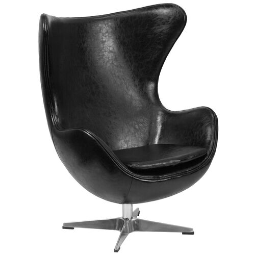 Our Black LeatherSoft Egg Chair with Tilt-Lock Mechanism is on sale now.