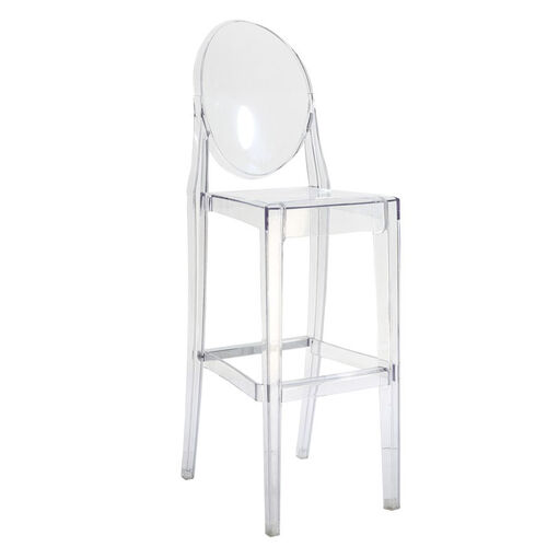 Clear Polycarbonate Armless Kage Barstool