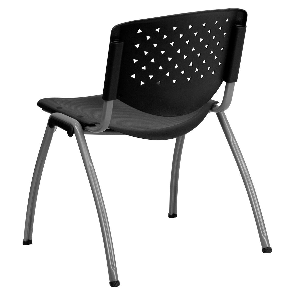 black plastic stack chair rut f01a bk gg. Black Bedroom Furniture Sets. Home Design Ideas
