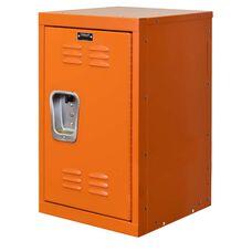 Hoop Orange Kids Mini Locker - Unassembled - 15''W x 15''D x 24''H