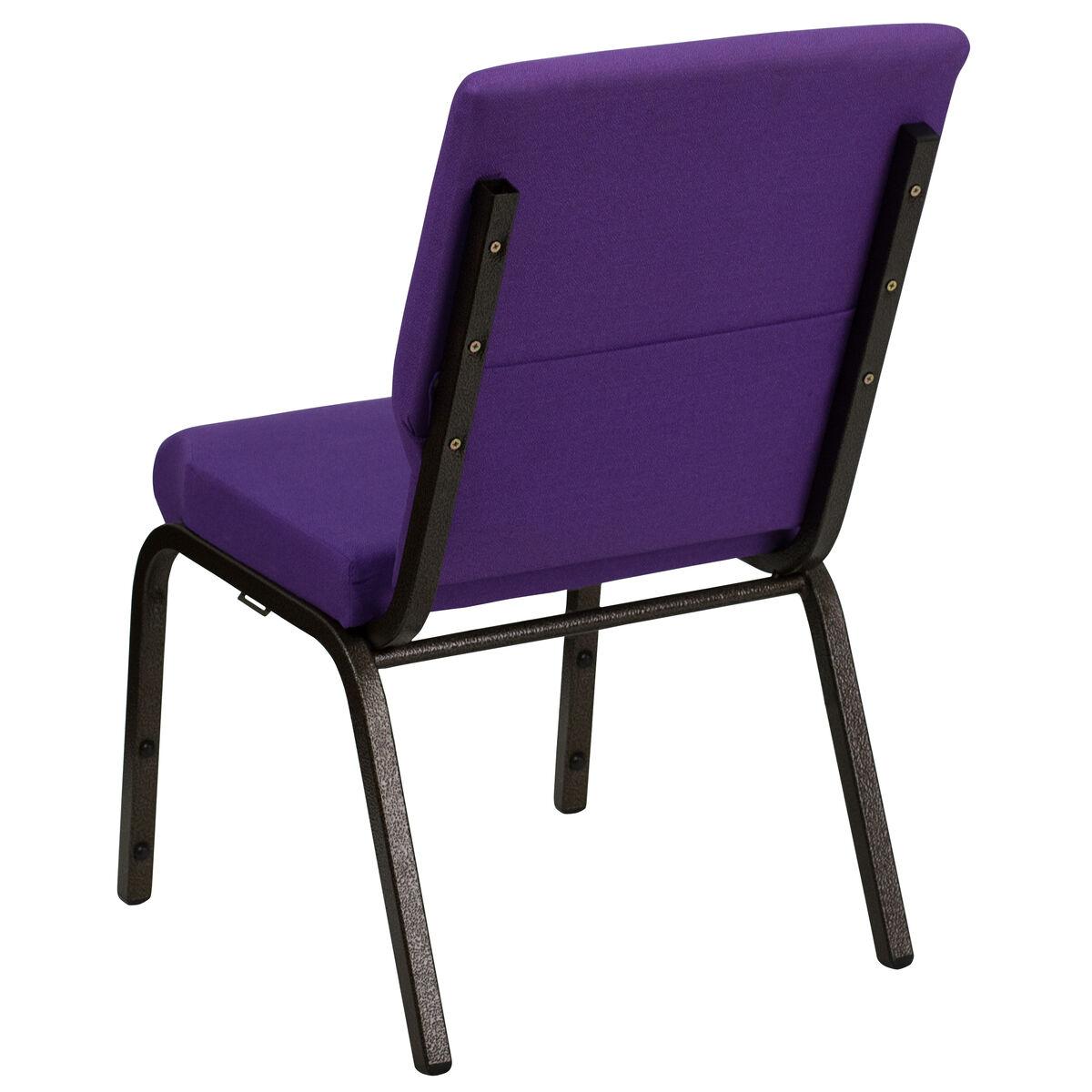 Purple Fabric Church Chair Xu Ch 60096 Pu Gg