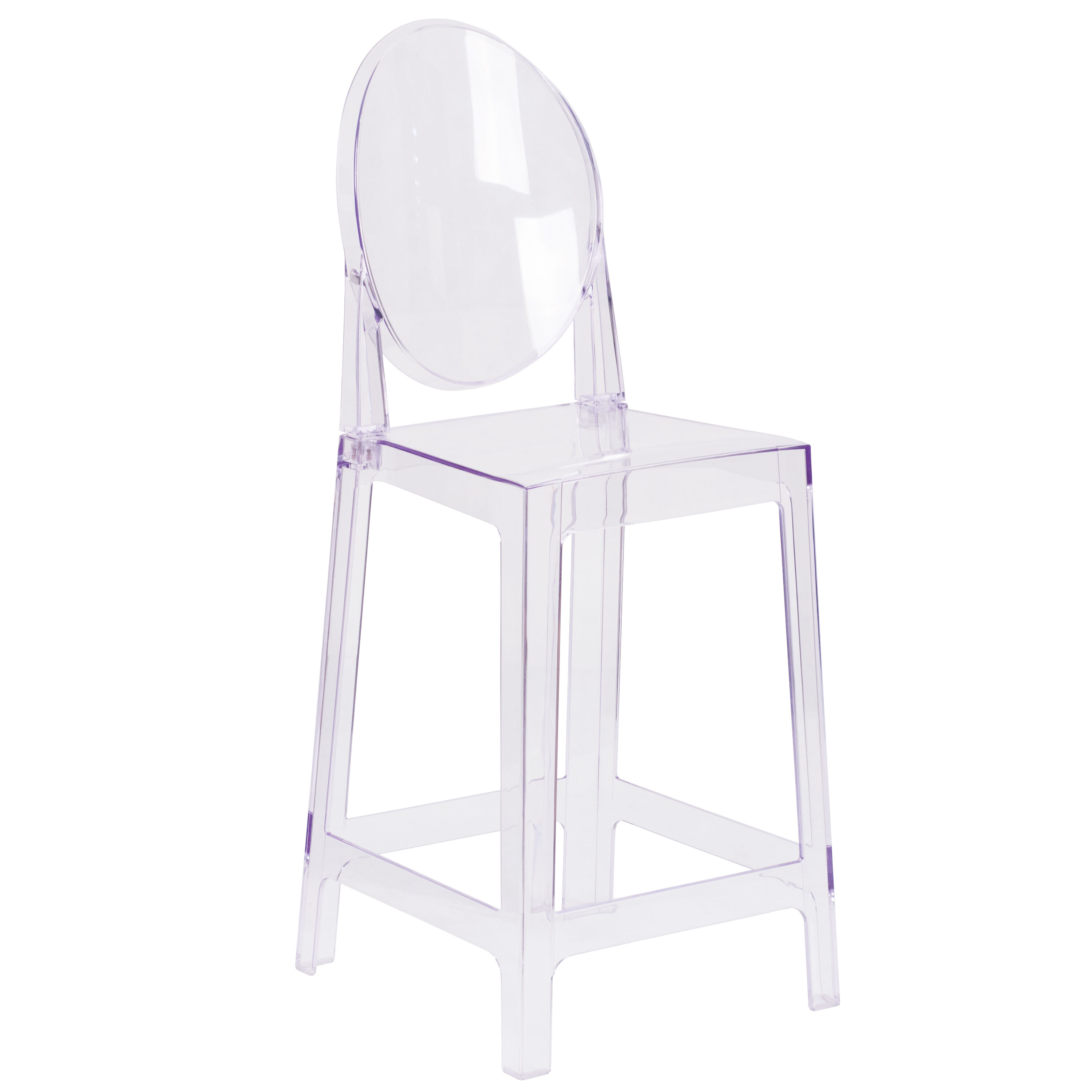 Oval Back Ghost Counter Stool Ow Ghostback 24 Gg Churchchairs4lesscom