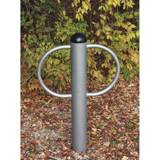 Chrome Finished Galvanized Steel Pipe Constructed Circular Loop Double Bike Rack - 30