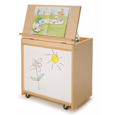 Big Book Display with Write & Wipe Board and Book Storage on Back