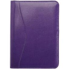 Junior Writing Padfolio - Genuine Leather - Plum