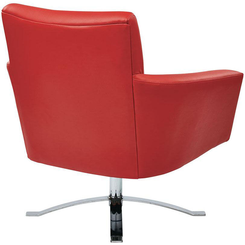 ... Our Ave Six Nova Faux Leather Chair With Wide Star Base And Protective  Floor Glides ...