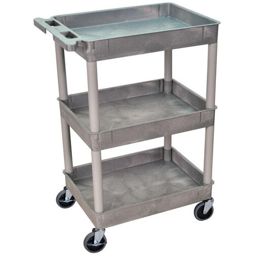 Our Heavy Duty Multi-Purpose Mobile Tub Utility Cart with 3 Tub Shelves - Gray - 24