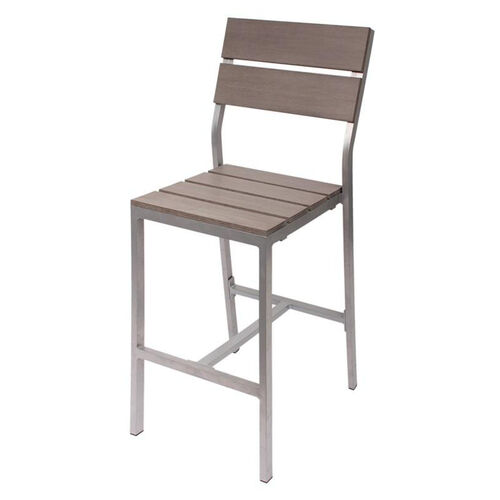 Our Seaside Aluminum Armless Bar Stool - Soft Gray is on sale now.