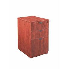 Cherry Mobile Pedestal Box/Box/File with Lock