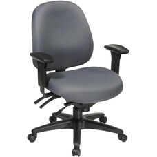 Work Smart Mid Back Multi Function Office Chair with Ratchet Back Height Adjustment