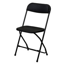 500 lb. Max Black with Black Frame Poly Performance Folding Chair
