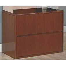 OSP Furniture Sonoma Wood Lateral File - Cherry