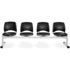 Stars 4-Beam Seating with 4 Plastic Seats