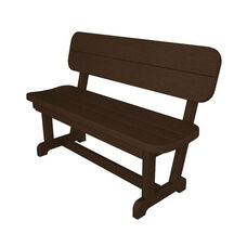 POLYWOOD® Commercial Collection Park Bench - Mahogany