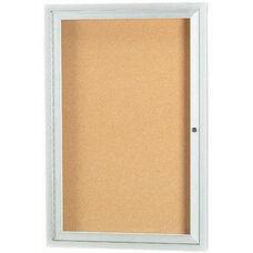1 Door Outdoor Aluminum Framed Enclosed Bulletin Board - 24