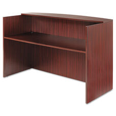 Alera® Valencia Series Reception Desk w/Counter - 71w x 35 1/2d x 42 1/2h - Mahogany