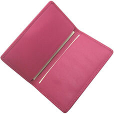Slim Business Card Case - Genuine Leather - Wildberry