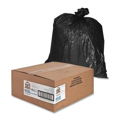 Our Genuine Joe Heavy -Duty Trash Bags - 1.5 Mil - 31 -33 Gallon - 100 per Box - Black is on sale now.