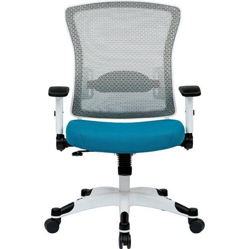 Our Space Pulsar Managers Office Chair with Mesh Padded Seat with White Frame is on sale now.