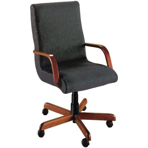 Our Quick Ship Scoop Executive Swivel Chair with Wood Arms is on sale now.