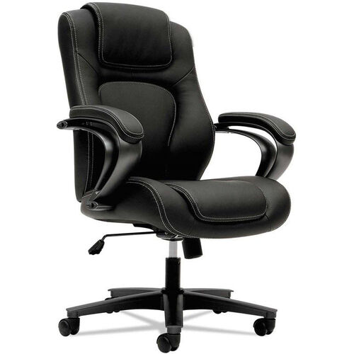 Our Basyx® VL402 Series Executive High-Back Chair with Padded Arms and Black Frame - Black Vinyl is on sale now.