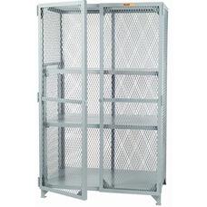 Welded Storage Locker with 2 Adjustable Center Shelves - 24''W x 48''D
