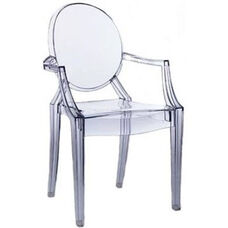 Polycarbonate Stackable Kage Chair with Arms
