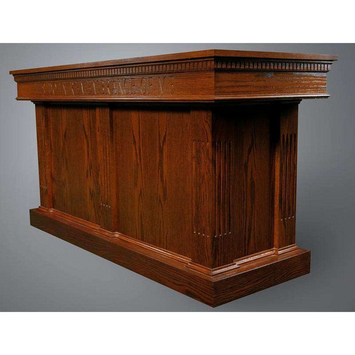 Our Stained Red Oak Closed Communion Table With Smooth Front Panels Is On Now