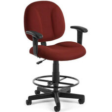 Comfort Superchair with Arms and Drafting Kit - Wine