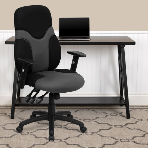 Our High Back Ergonomic Black and Gray Mesh Swivel Task Office Chair with Adjustable Arms is on sale now.