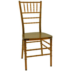 1000 lb. MAX Amber Crystal Resin Steel Core Chiavari Chair