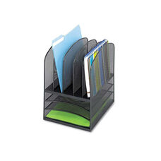 Safco® Onyx Mesh Desk Organizer - Eight Sections - 11 1/2 x 9 1/2 x 13 - Black