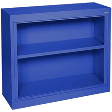 Elite Series 36'' W x 18'' D x 30'' H Two Shelf Welded Bookcase - Blue