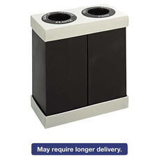 Safco® At-Your-Disposal Recycling Center - Polyethylene - Two 28gal Bins - Black