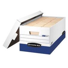 Bankers Box® Presto Maximum Strength Storage Box - Letter - 12 x 24 x 10 - WE - 12/Carton