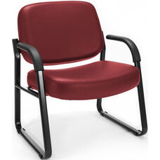 Big & Tall Guest and Reception Vinyl Chair with Arms - Wine