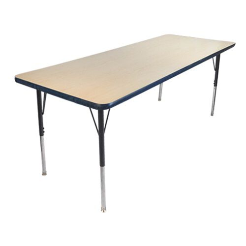 Advantage 24 in. x 48 in. Rectangular Adjustable Activity Table - Maple/Navy