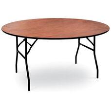 60'' Diameter Round Laminate Folding Table with Locking Wishbone Style Legs
